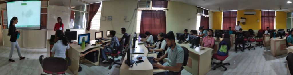 Our 5th sem students conducted technical session under Web pack club